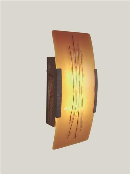 Cobre Fused Glass Wall Sconce - Contemporary - Wall Sconces - by Artisan Crafted