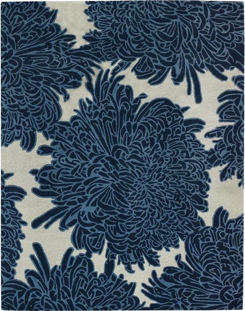 Chrysanthemum Area Rug contemporary rugs