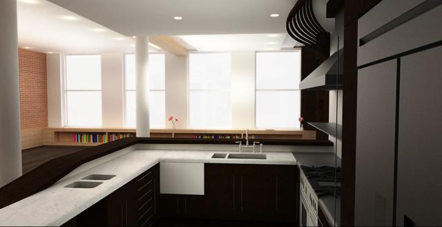 apartment renovation soho nyc modern rendering