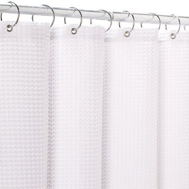 White Waffle Weave Fabric Shower Curtain Shower Curtains By Target