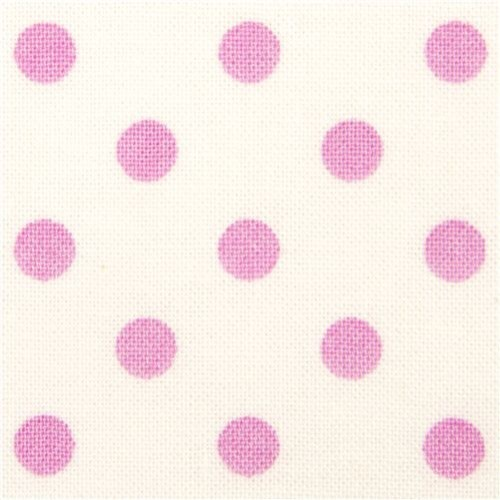 white Michael Miller fabric with pink polka dots fabric