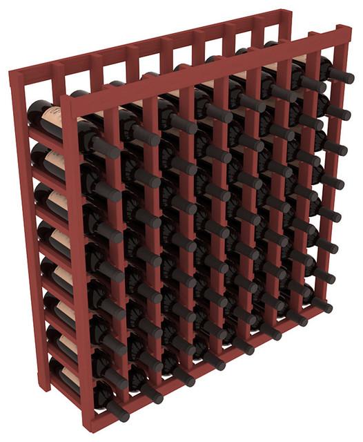 8 Column Standard Tasting Table in Pine, Cherry contemporary-wine-racks