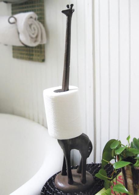 Giraffe Tissue/Toilet Paper Holder eclectic-toilet-paper-holders