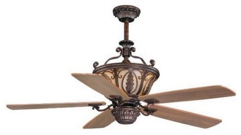 "Vaxcel Lighting FN56312 Dynasty 56"" 5 Blade Indoor Ceiling Fan with Reversible M traditional-ceiling-fans"
