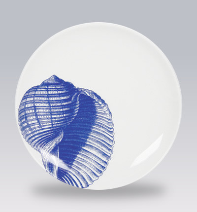 Blue Shells Canape Plates contemporary-serveware
