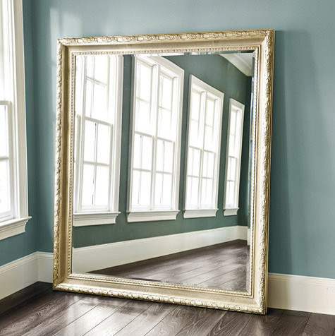 Gautier leaner mirror traditional floor mirrors by for Floor wall mirror
