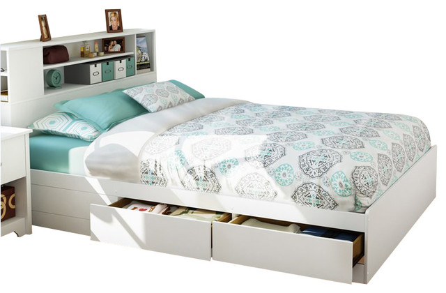 White Queen Size Bed with Storage 640 x 420