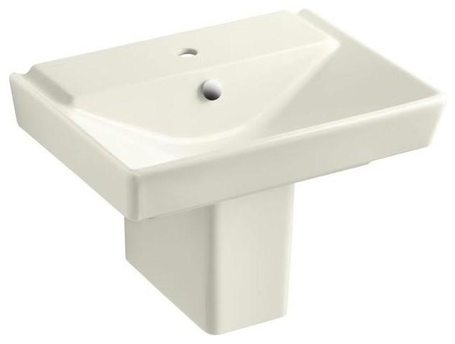 Kohler bathroom reve semi pedestal combo bathroom sink in - Kohler pedestal sinks small bathrooms ...