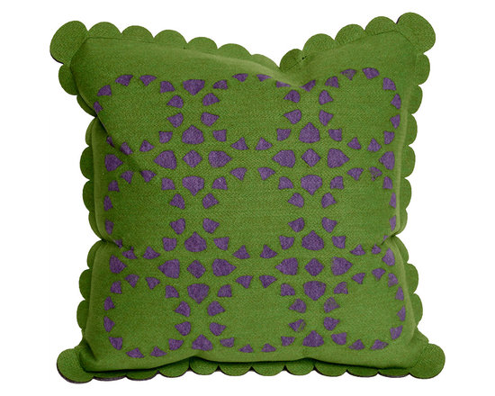 Liora Manne Green Dahlia Throw Pillow