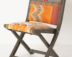 Terai Folding Chair, Orange Ikat eclectic chairs