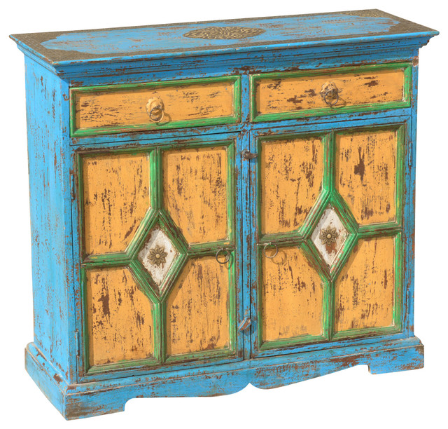 ... Wood Distressed Sideboard Buffet Cabinet rustic-buffets-and-sideboards