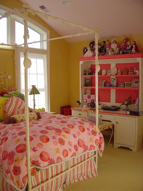 pink bedroom eclectic-kids