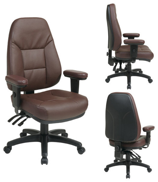 Ergonomic Leather Office Chair traditional-task-chairs