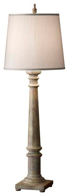 Weathered Gray Lamp contemporary-table-lamps