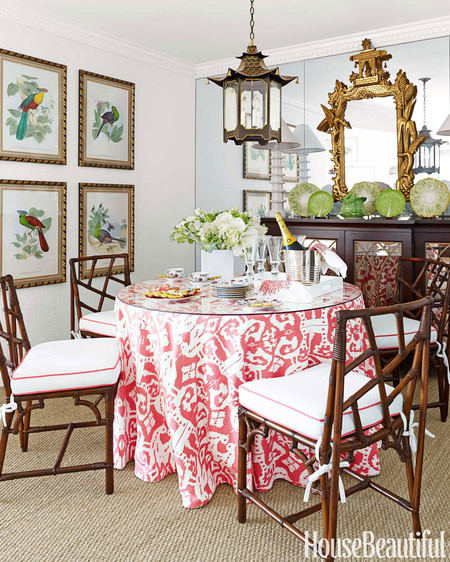 How To Make A Skirted Dining Table Look Bohemian And Not Formal