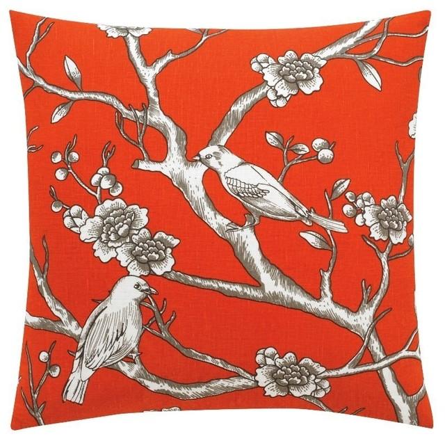 DwellStudio Vintage Blossom Persimmon Pillow traditional-decorative-pillows