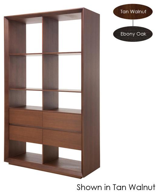 Gwynne Shelving Unit, Tan Walnut - Modern - Storage Cabinets - by Inmod