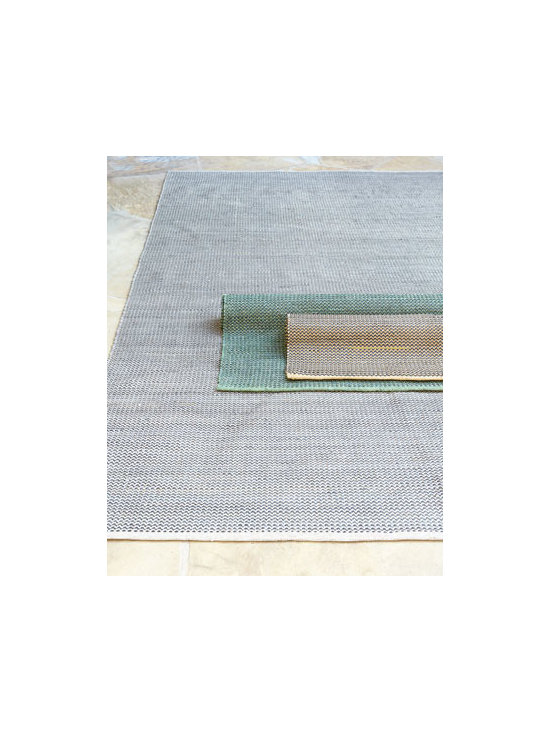 "Horchow - ""Chipita Texture"" Indoor/Outdoor Rug - We love the subtle wave pattern and great texture of this indoor/outdoor rug. It works well in high traffic areas. Made of polypropylene/acrylic blend. Available in Neutral (featured), Yellow (rolled, front), or Green (rolled, back); select color when..."