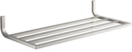 Brushed Nickel Bathroom Floor Shelf : Kohler k bn loure hotelier bathroom shelf in brushed