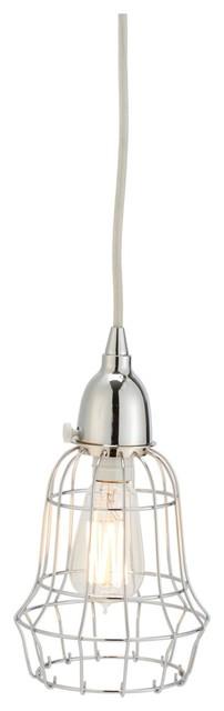 Lazy Susan 225040 Silver Wire Barrel Pendant Light contemporary-pendant-lighting