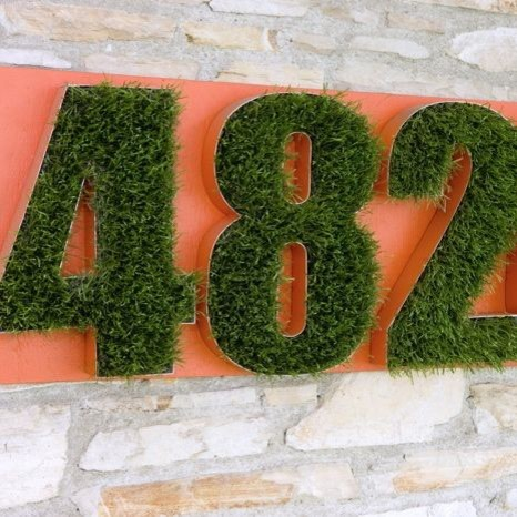 Grass Numbers eclectic-house-numbers