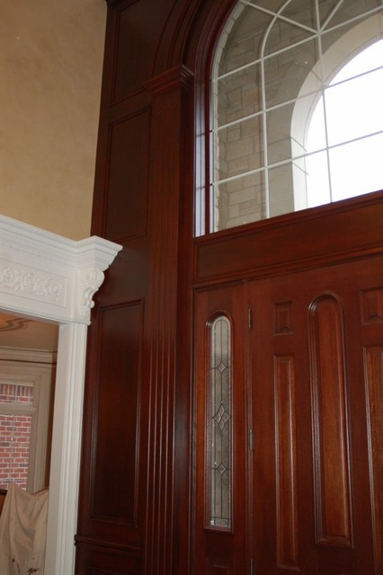 Foyer 2-story Wall Grained to Mahogany traditional-entry
