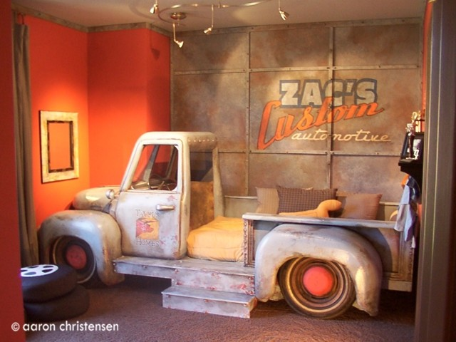 Boys Truck Bedroom - Eclectic - Kids - portland - by Embellishments Kids