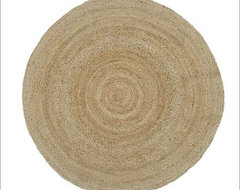 Round Jute Rug, Natural contemporary-rugs
