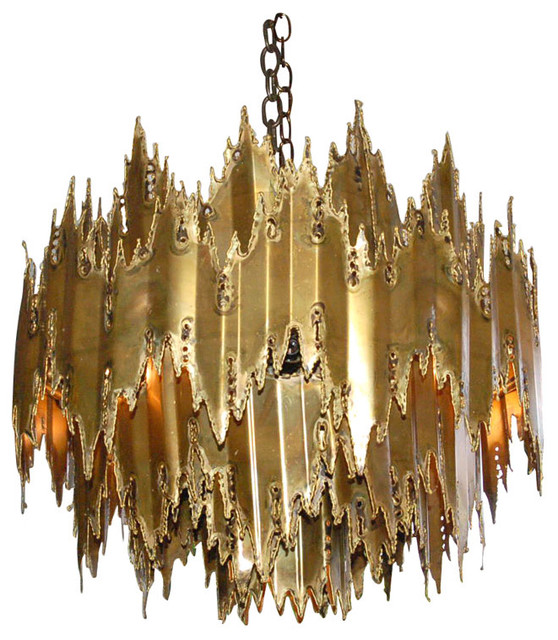 Brutalist Chandelier attributed to Harry Weese modern chandeliers