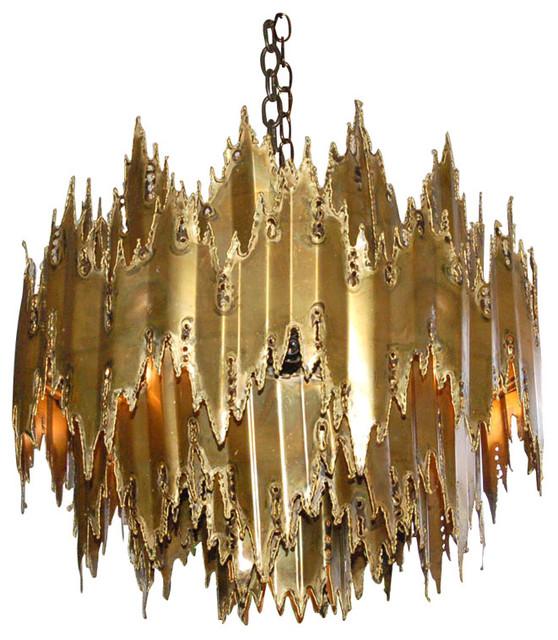 Brutalist Chandelier attributed to Harry Weese modern-chandeliers