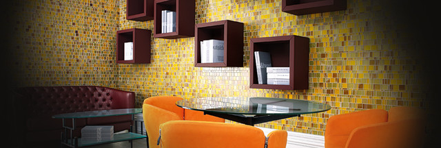 White Horse Laliberte glass tile mosaic modern-mosaic-tile
