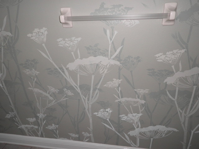 bathroom wall stencil Contemporary other metro by