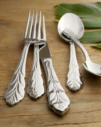 45-Piece Leaf Flatware Service traditional flatware