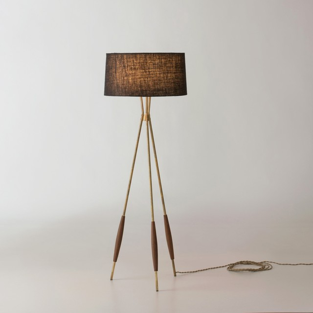 Mulberry Tripod Floor Lamp Modern Floor Lamps By