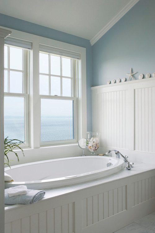 What 39 s your style beach elements for Beach inspired bathroom designs