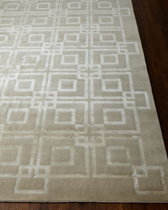Ivory Squares Rug, 9' x 12' traditional-rugs