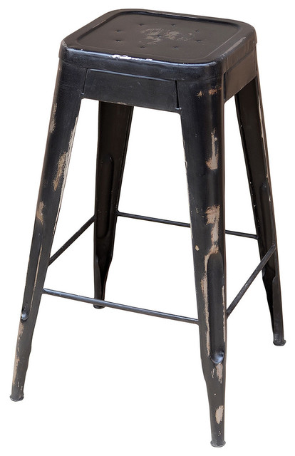 Industrial Bistro Barstool Eclectic Bar Stools And  : eclectic bar stools and counter stools from www.houzz.com size 414 x 640 jpeg 50kB