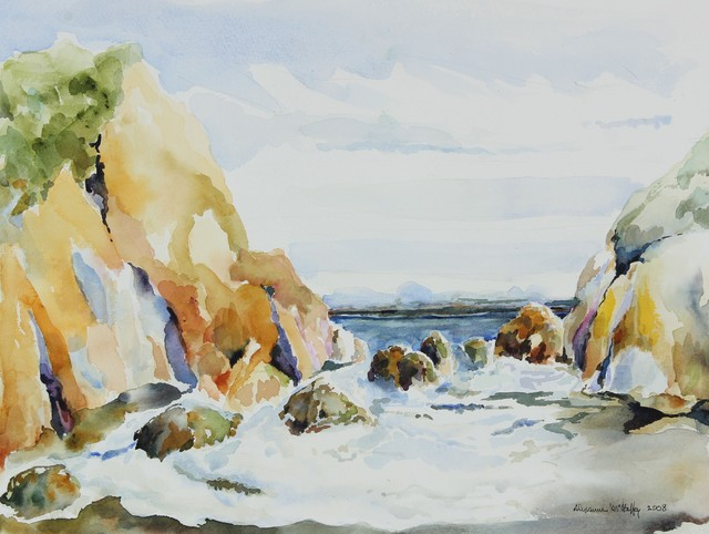 2008 Watercolor Coastal Scene by Alysanne McGaffey contemporary-paintings