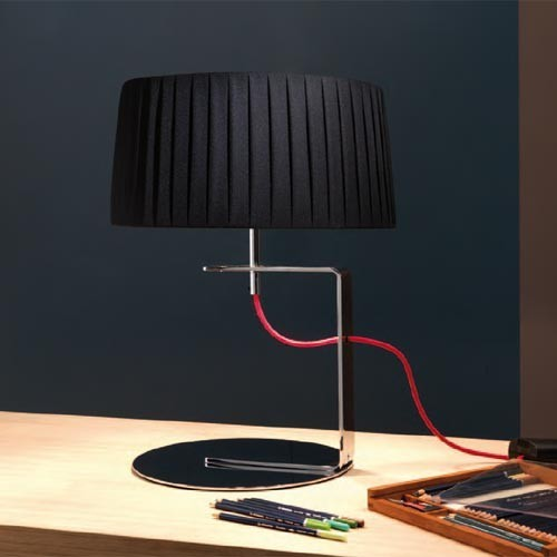 Contardi Lighting Divina TA ACAM.000066 Table Lamp Black Shade / Red Cord ACAM00 table-lamps