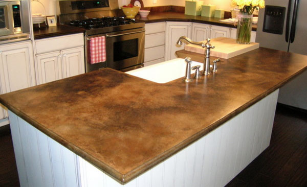 The sink and know remodeling bathroom cost bathroom designs ideas - Brown Concrete Countertop