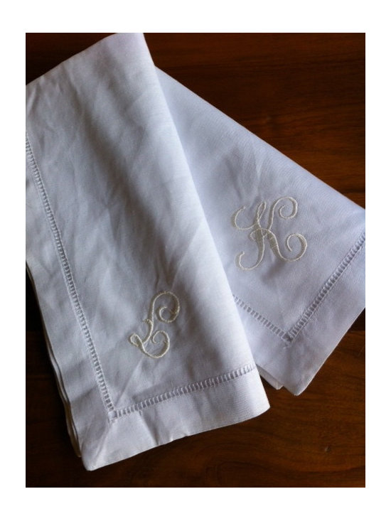 Classic Linen Dinner Napkins with Monogram -