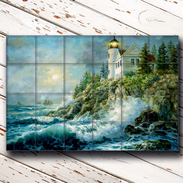 Bass Harbor Lighthouse traditional-tile