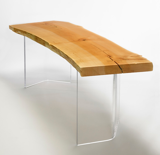Shima Desk - Natural Edge Wood Desk - Contemporary - Desks And Hutches ...