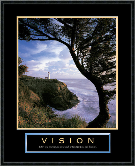 Vision: Lighthouse Framed Print traditional-prints-and-posters