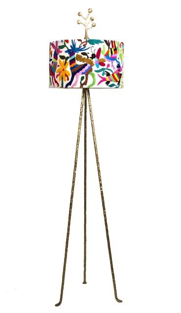 Stray Dog Designs Otomi Floor Lamp traditional-floor-lamps
