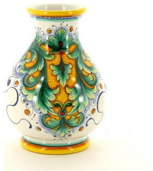 Deruta Glt: Narrow Neck Vase (Dec. 198) mediterranean-vases