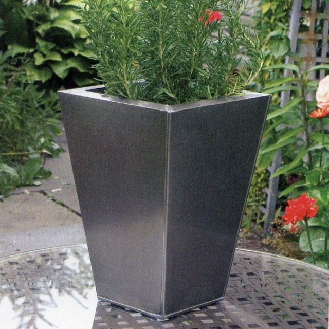 Metal Planters Modern Indoor Pots And Planters Other Metro By Goverho