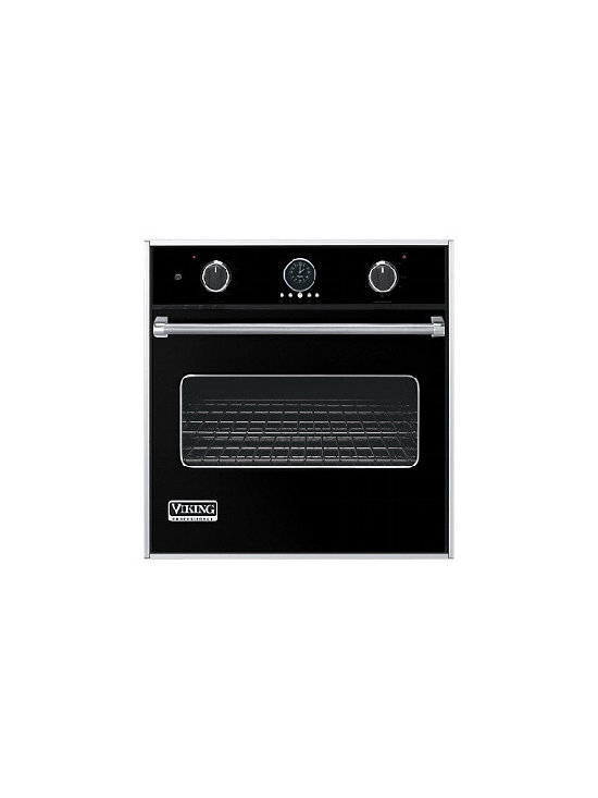 """Viking 30"""" Single Gas Wall Oven, Black Natural Gas 