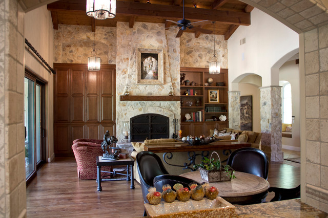 Rancho Santa Fe Living Room Fireplace Makeover