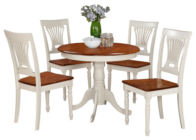 5 piece kitchen table set small kitchen table plus 4 for Traditional kitchen table sets